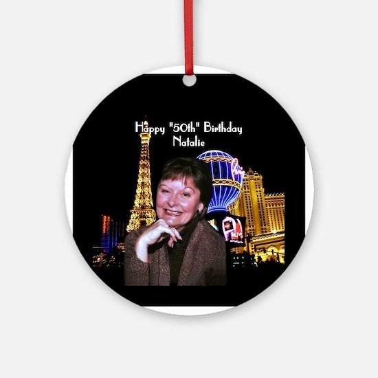 50th Birthday Las Vegas ParisOrnament (Round)