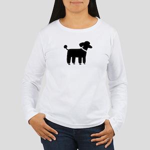 Black Poodle Women's Long Sleeve T-Shirt