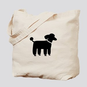 Black Poodle Tote Bag