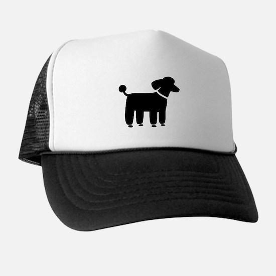 Black Poodle Trucker Hat