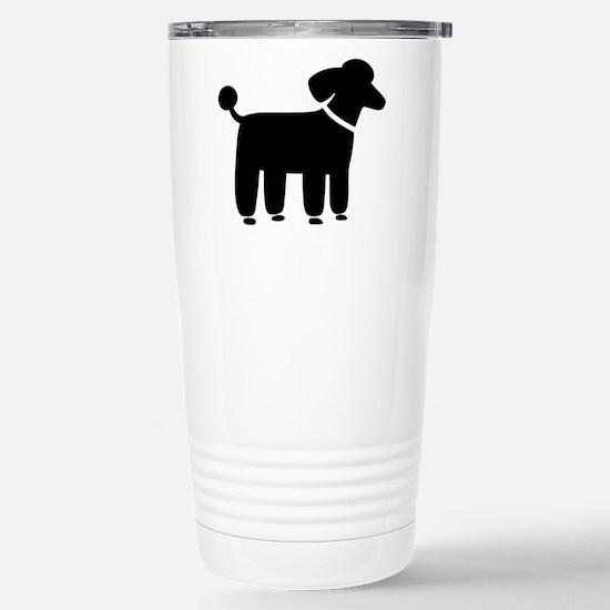 Black Poodle Stainless Steel Travel Mug