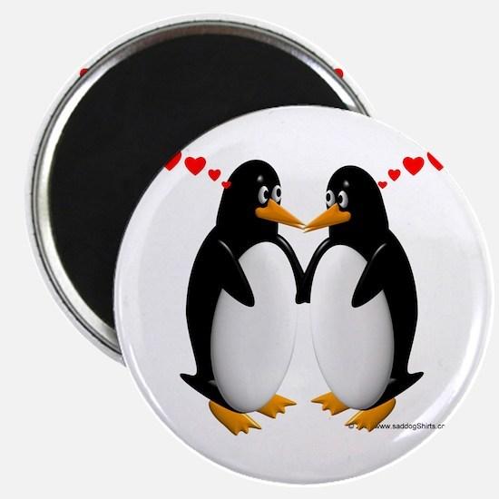 """Penguin Lovers 2.25"""" Magnet (10 pack)"""