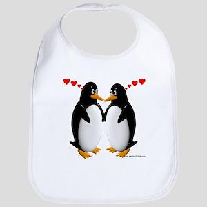 Penguin Lovers Bib