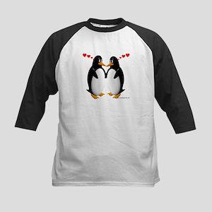 Penguin Lovers Kids Baseball Jersey