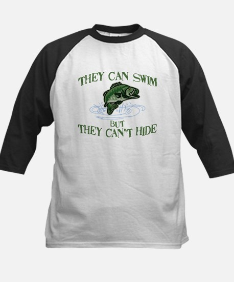 THEY CAN SWIM BUT CAN'T HIDE Kids Baseball Jersey