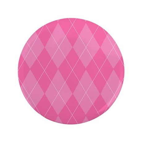 "Pink Argyle 3.5"" Button"