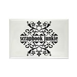 Scrapbook Junkie Rectangle Magnet
