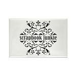 Scrapbook Junkie Rectangle Magnet