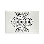 Scrapbook Junkie Rectangle Magnet (100 pack)