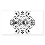 Scrapbook Junkie Rectangle Sticker