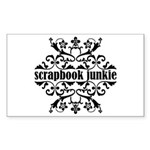 Scrapbook Junkie Rectangle Sticker 10 pk)