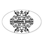 Scrapbook Junkie Oval Sticker