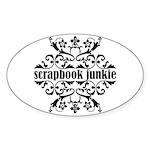 Scrapbook Junkie Oval Sticker (10 pk)