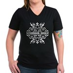 Scrapbook Junkie Women's V-Neck Dark T-Shirt