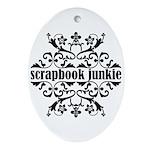Scrapbook Junkie Oval Ornament