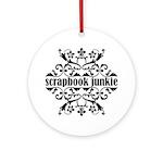 Scrapbook Junkie Ornament (Round)