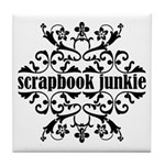 Scrapbook Junkie Tile Coaster