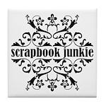 Scrapbook Junkie Tile Coaster