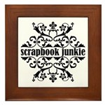 Scrapbook Junkie Framed Tile