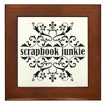 Scrapbook Junkie Framed Tile