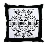 Scrapbook Junkie Throw Pillow