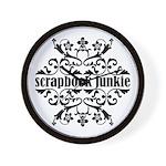 Scrapbook Junkie Wall Clock