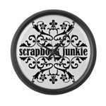 Scrapbook Junkie Large Wall Clock