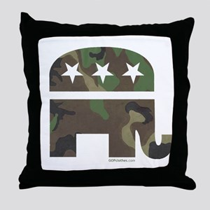 Camo-GOP Throw Pillow