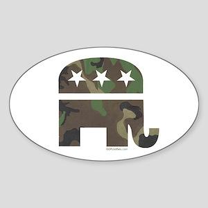 Camo-GOP Oval Sticker