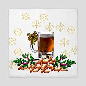 Beer and Peanut Christmas Queen Duvet