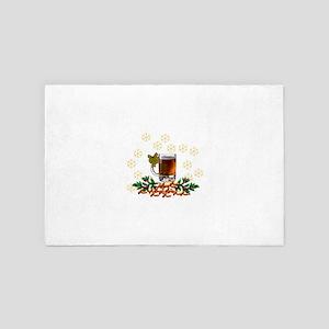 Beer and Peanut Christmas 4' x 6' Rug