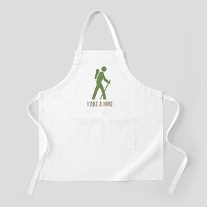 Take a Hike Green BBQ Apron