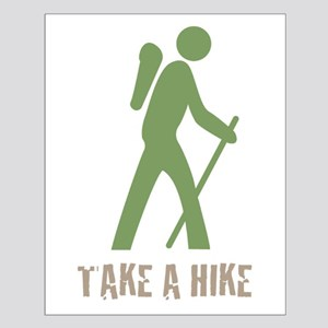 Take a Hike Green Small Poster