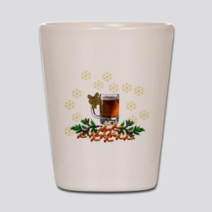 Beer and Peanut Christmas Shot Glass