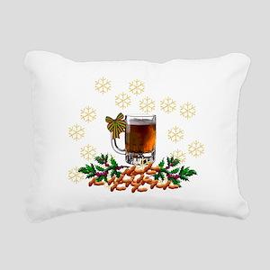 Beer and Peanut Christma Rectangular Canvas Pillow