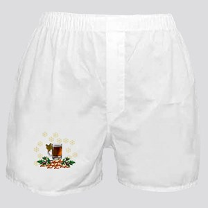 Beer and Peanut Christmas Boxer Shorts