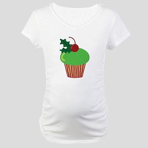 Christmas Cupcake Maternity T-Shirt