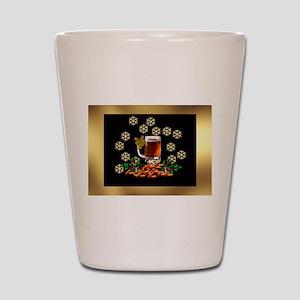 Beer and Peanut Christmas 2 Shot Glass