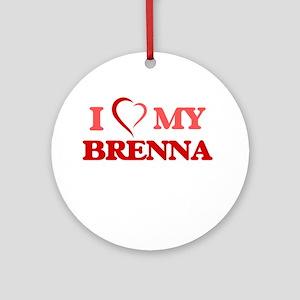 I love my Brenna Round Ornament