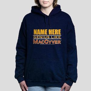 Personalized Genius Like Women's Hooded Sweatshirt