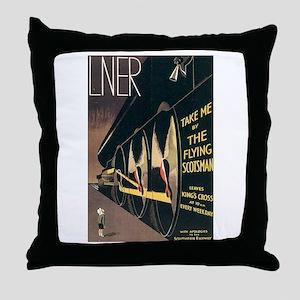 Lner Railway Scotland Throw Pillow