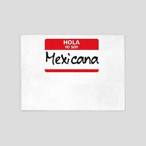 Mexicana Latino Halloween Costume M 5'x7'Area Rug