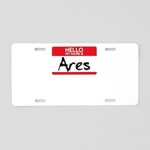 Ares Greek Mythology Hallow Aluminum License Plate