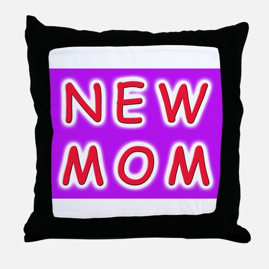 New Mom - baby announcement Throw Pillow