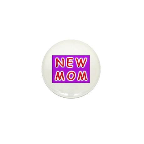 New Mom - baby announcement Mini Button