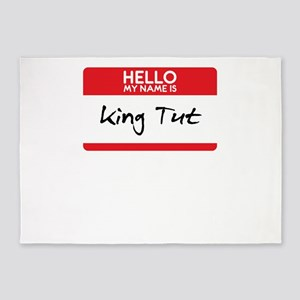 King Tut Egyptian Pharoah Halloween 5'x7'Area Rug