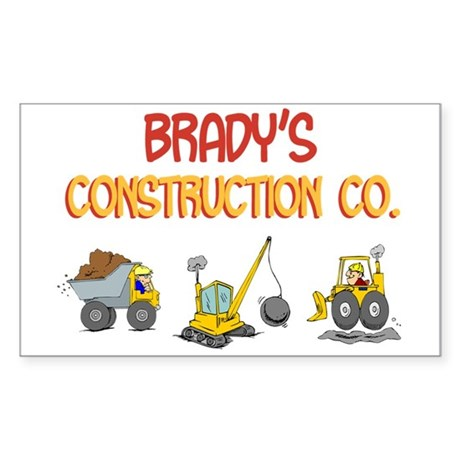 Brady's Construction Tractors Rectangle Sticker