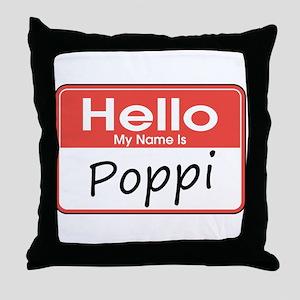 Hello, My name is Poppi Throw Pillow