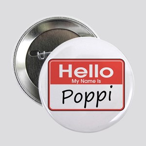 """Hello, My name is Poppi 2.25"""" Button"""