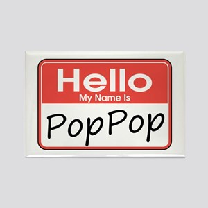 Hello, My name is PopPop Rectangle Magnet